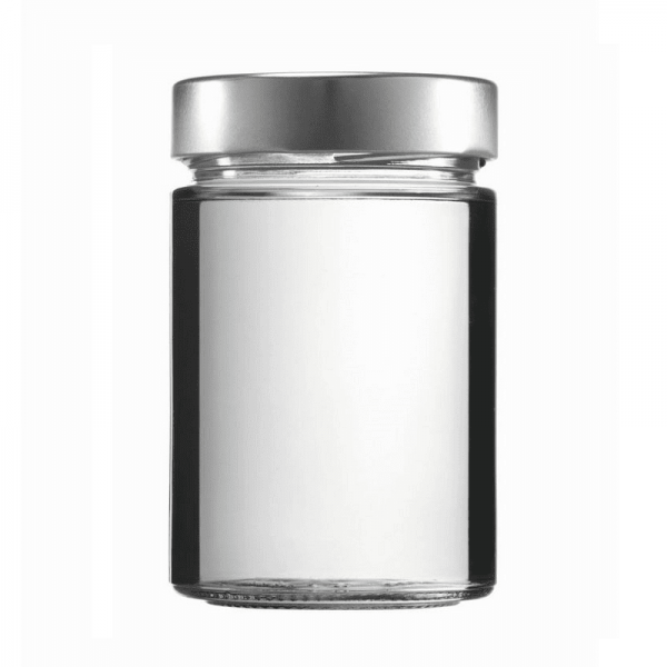 CONSERVATOR GLASS - FACTUM 370 ml with lid silver