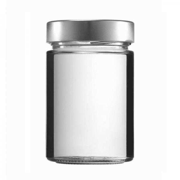 Konservenglas - Factum 370 ml mit Deckel silber