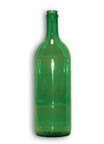 Weinflaschen grün, 1 lt, 12 Stk.