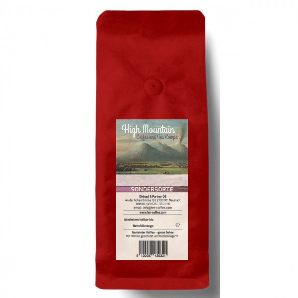 High Mountain-Koffeinfrei, coffea arabica, handgeröstet, 250g