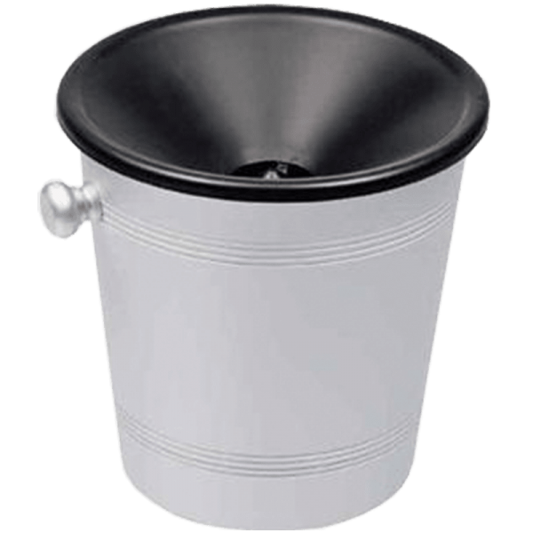 Spit Pot stainless steel, plastic funnel