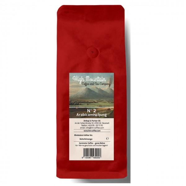 High Mountain-Nr.2 Arabicamischung, coffea arabica, handgeröstet, 500g