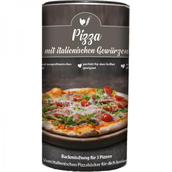 Backmischung Pizza mit italienischen Gewürzen